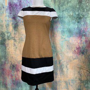 💜 Nine West Bold Color Stripe Mini Dress